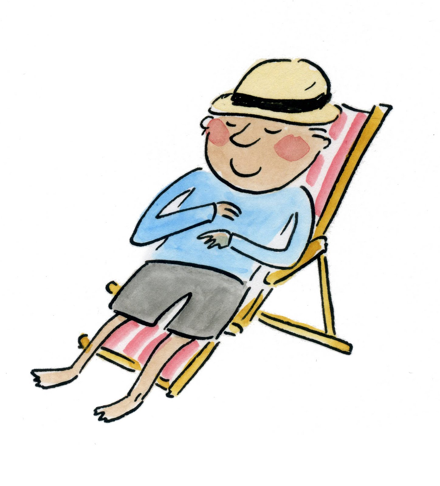 Deck Chair Cartoon Images Design And Ideas