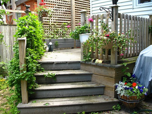 Deck Garden Ideas freestanding deck garden decking ideas for summer housetohomecouk Deck Container Garden Ideas