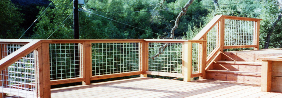 Deck fencing wire design and ideas