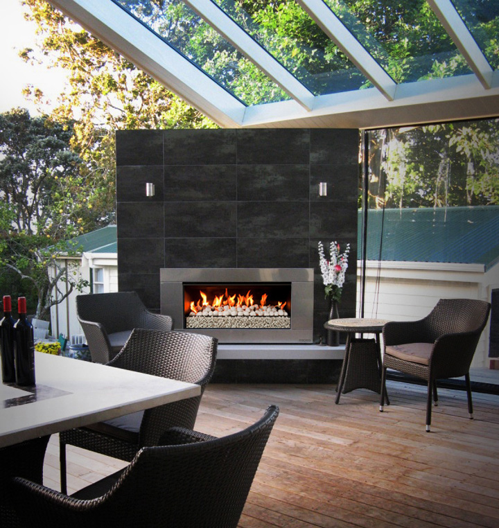 deck fireplace ideas