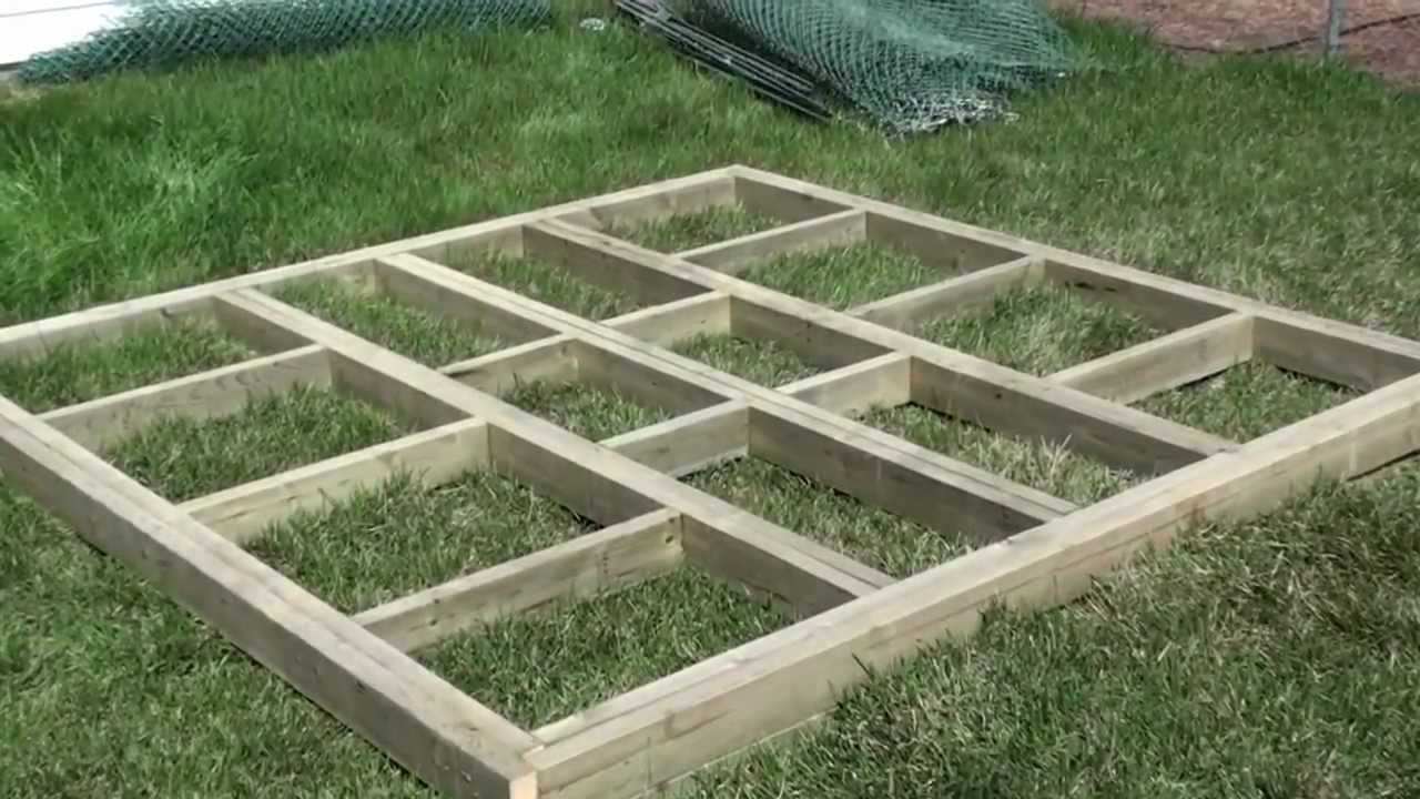 how to build deck footings