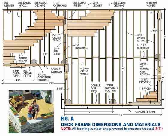Deck framing plans free deck design and ideas for Free online deck design