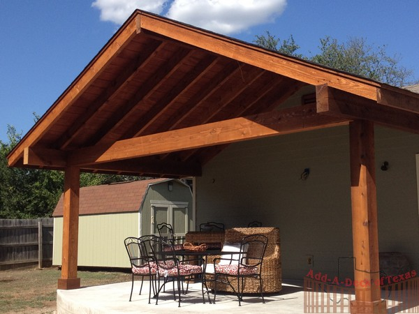 Deck gable roof deck design and ideas for Patio cover construction plans