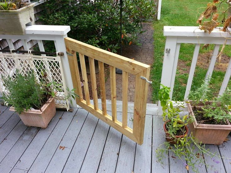 Deck Gates For Dogs on deck footings