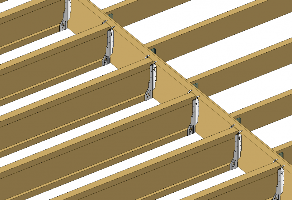 Deck joist brackets deck design and ideas for Wood floor joist spacing