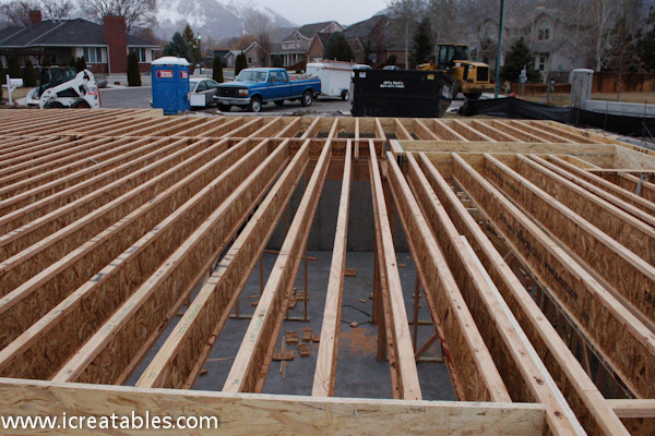 Deck joist layout deck design and ideas for Wood floor joist spacing
