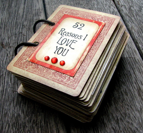 deck of cards valentines gift