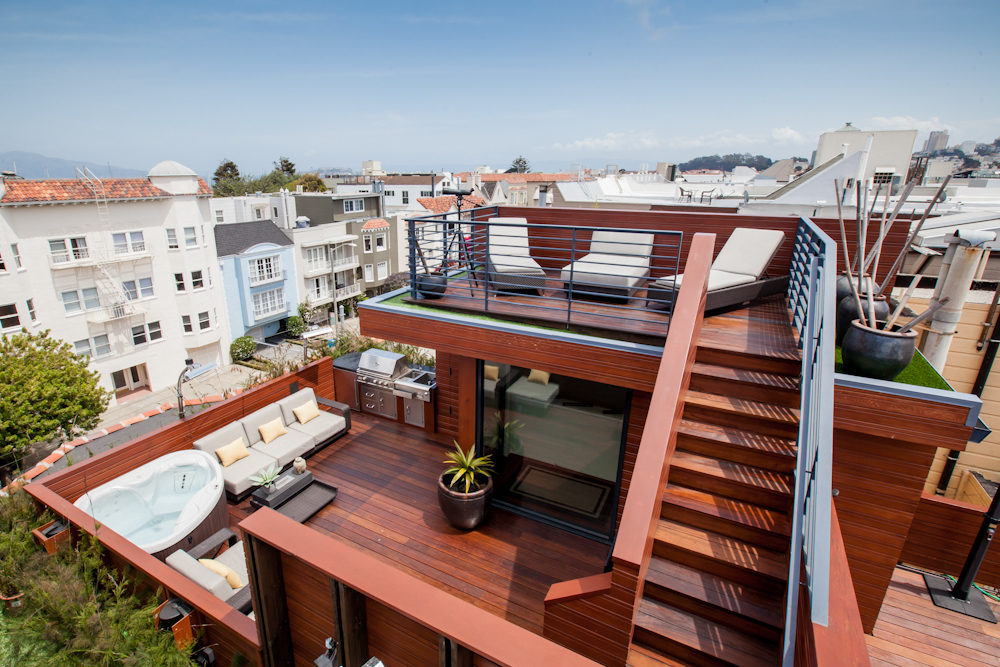 deck on roof