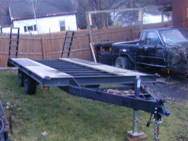 deck over car trailer