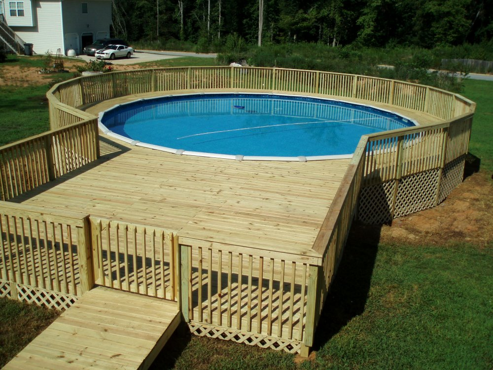 deck pictures around above ground pool design and ideas