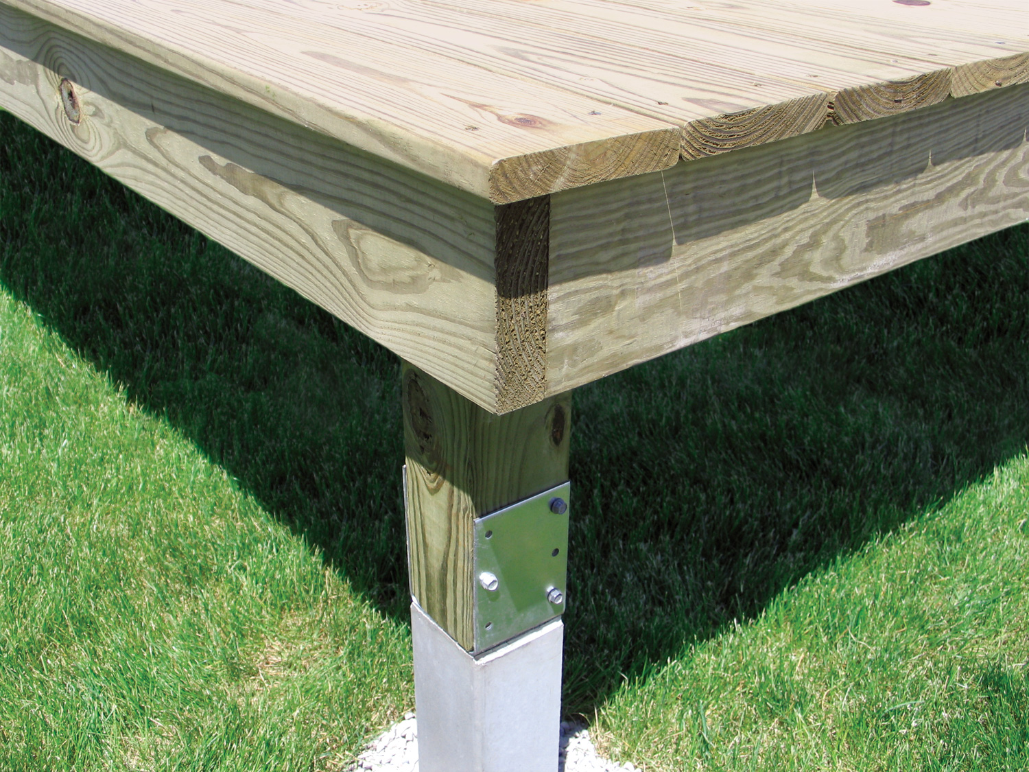 Deck Post Brackets Concrete Deck Design And Ideas