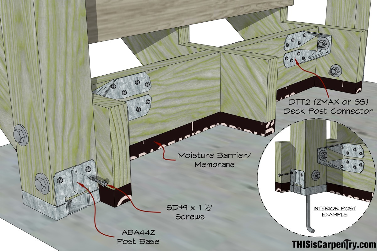 Deck Post Placement Deck Design And Ideas