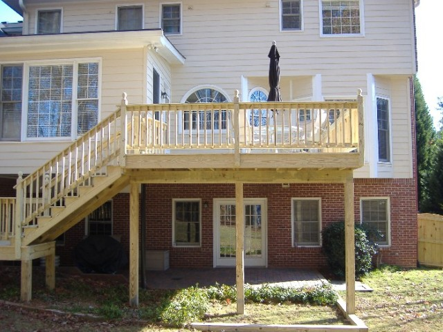 Deck Post Spacing Deck Design And Ideas