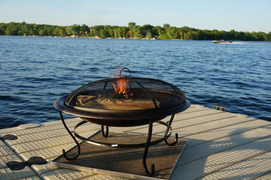 deck protect fire pit pad
