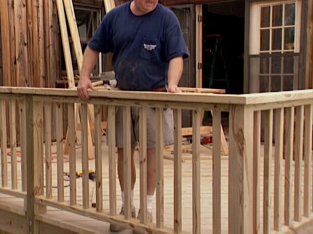 deck railing installation