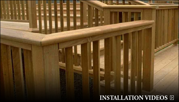 deck railing installation video