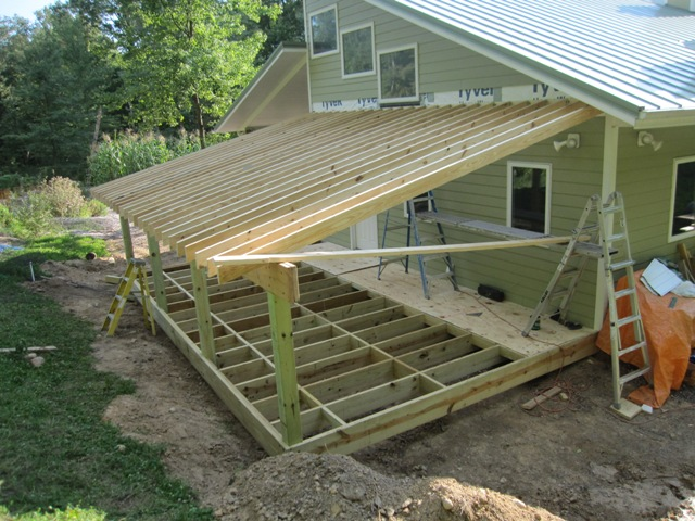 Deck Roof Attached To House