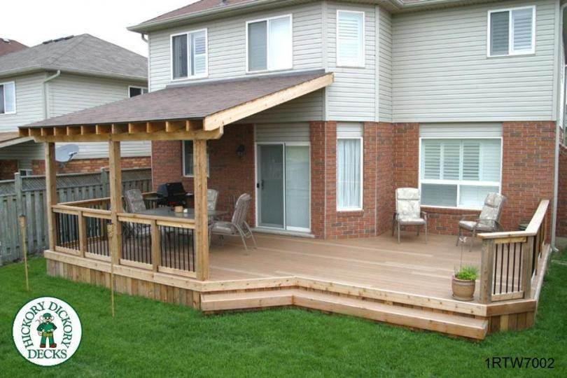 Deck roof ideas plans deck design and ideas for Cost to build covered porch