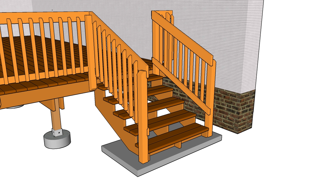 Deck stairs and railing plans | Deck design and Ideas