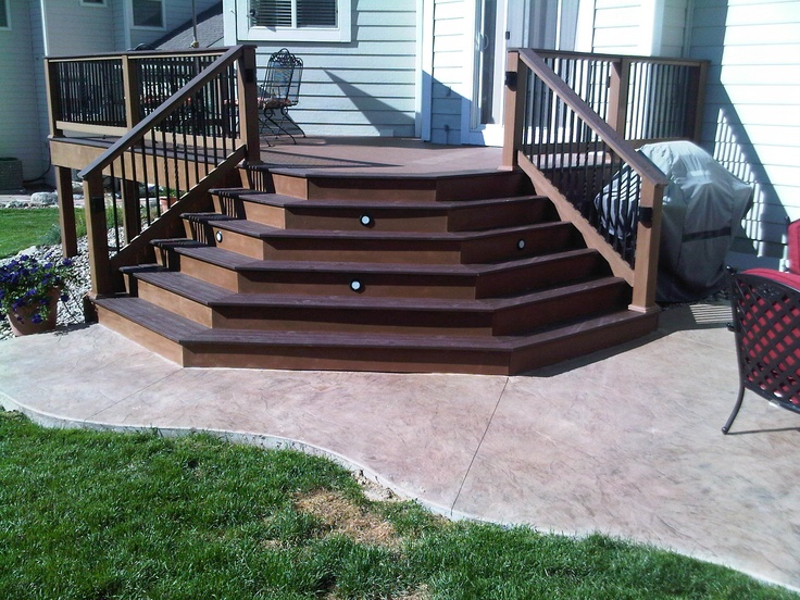 Deck Stairs Onto Patio