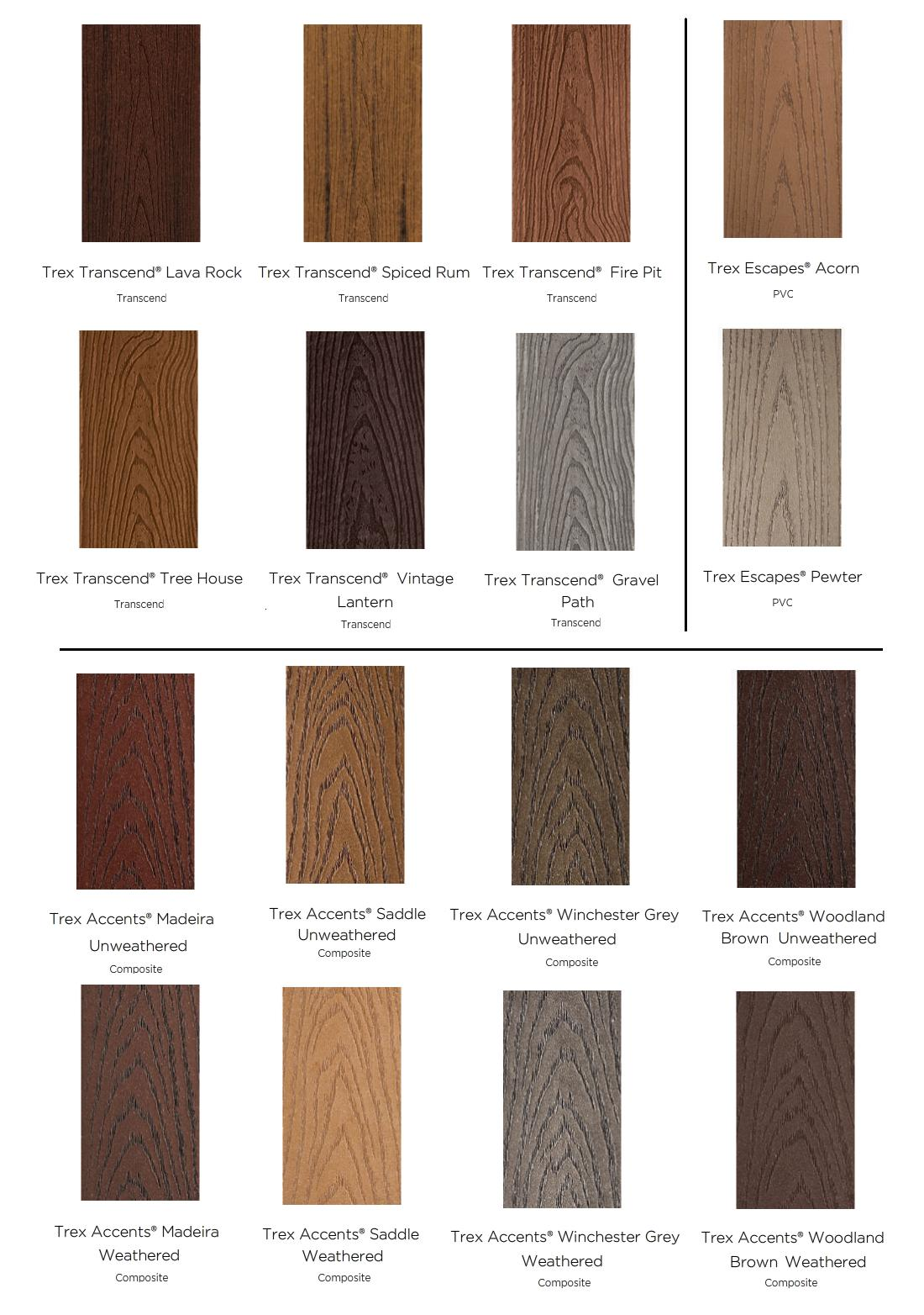Deck trex colors deck design and ideas for Evergrain decking vs trex