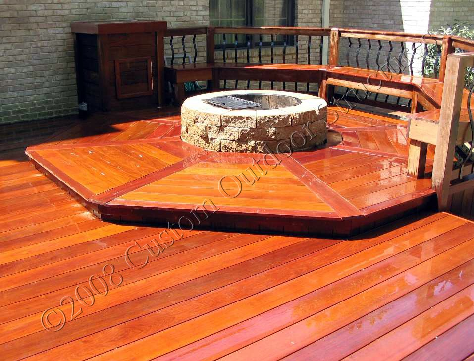 deck with fire pit