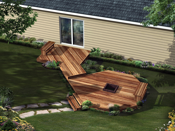 Deck With Fire Pit Plans Deck Design And Ideas