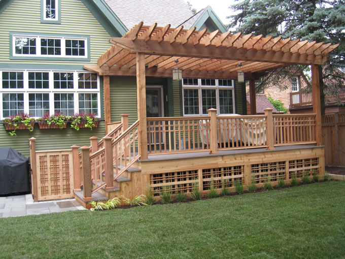 Deck With Pergola Designs Deck Design And Ideas