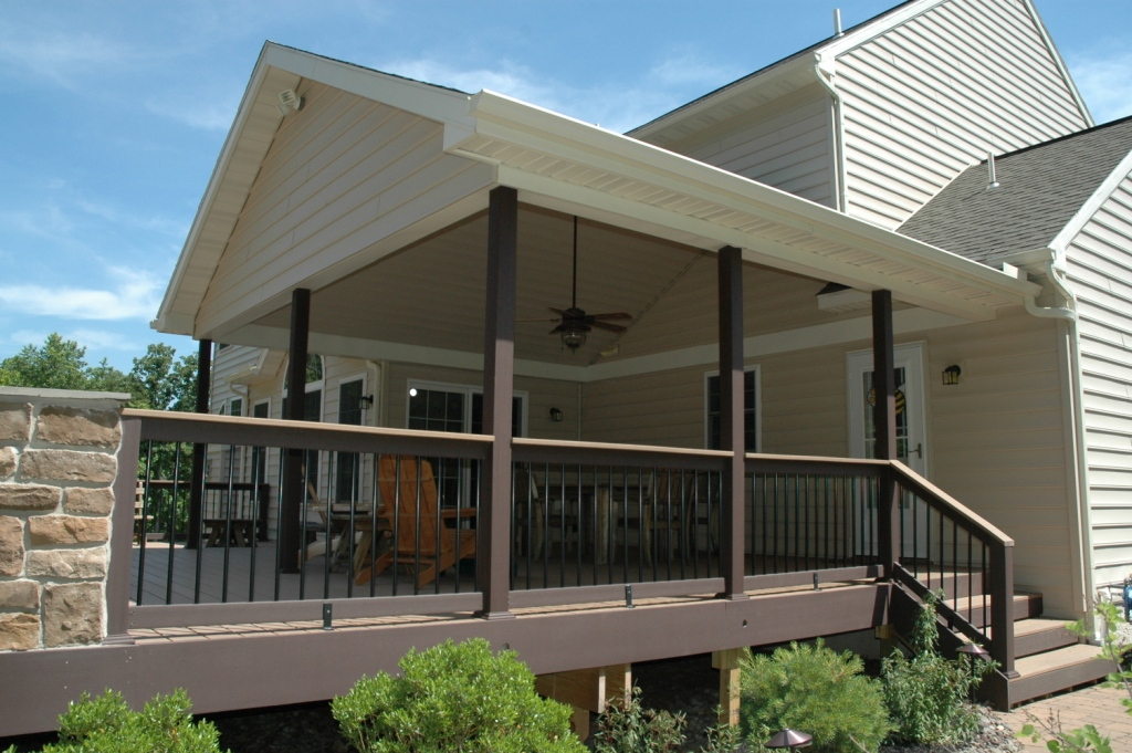 Deck with roof deck design and ideas for T g roof decking