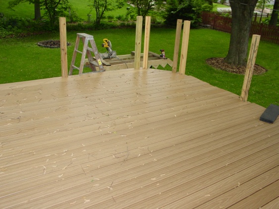 deck wood menards