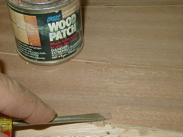 deck wood putty