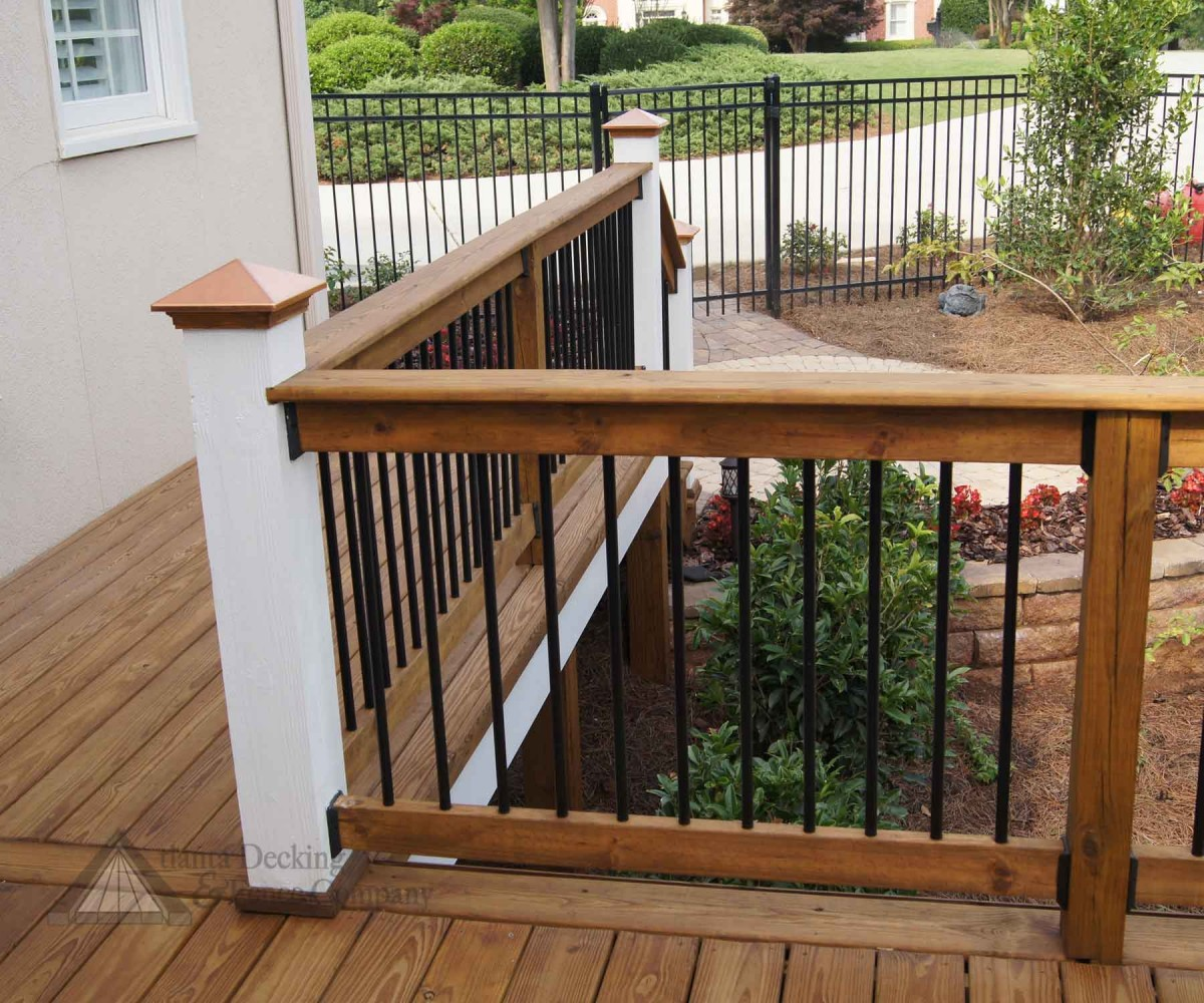 deck wood railing designs