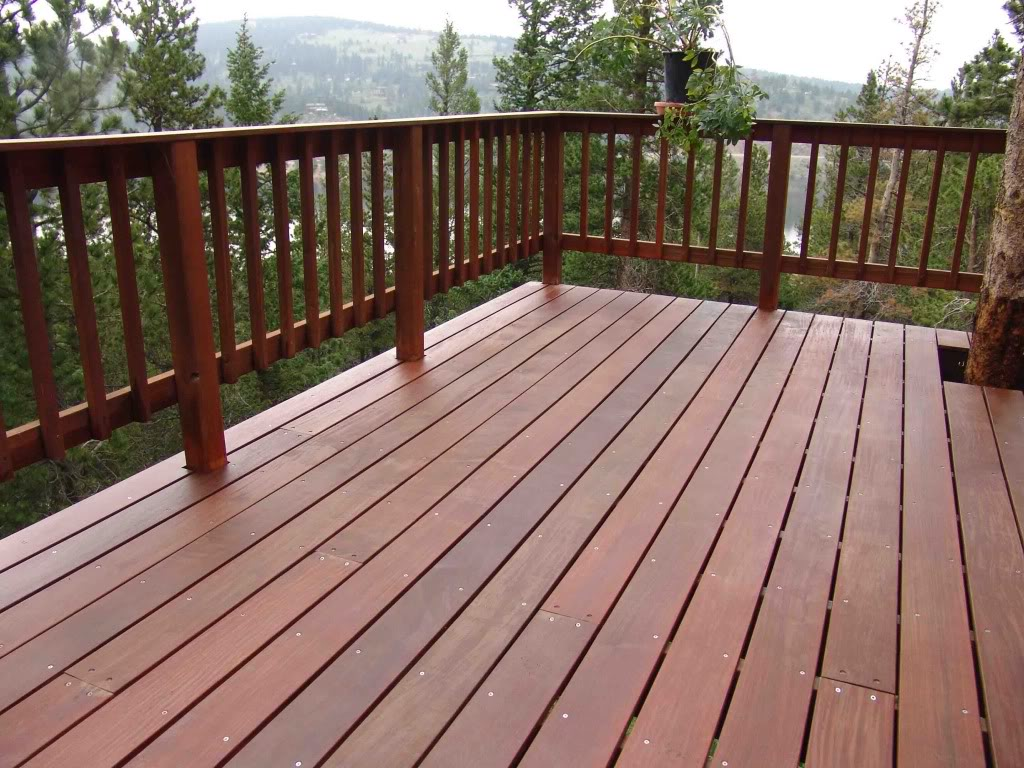 deck wood railing ideas