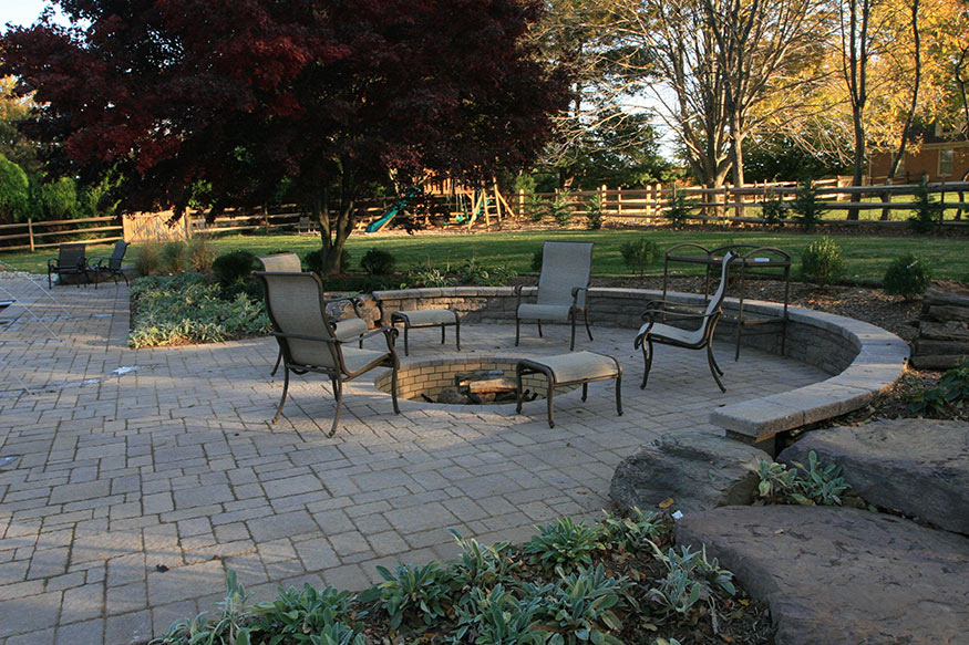 evergreen deck and patio