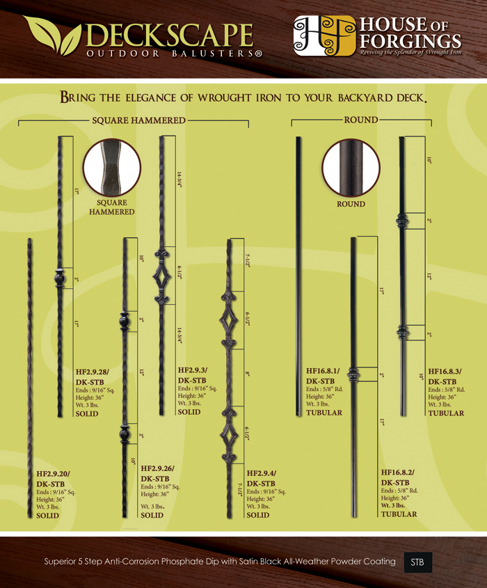 exterior deck balusters