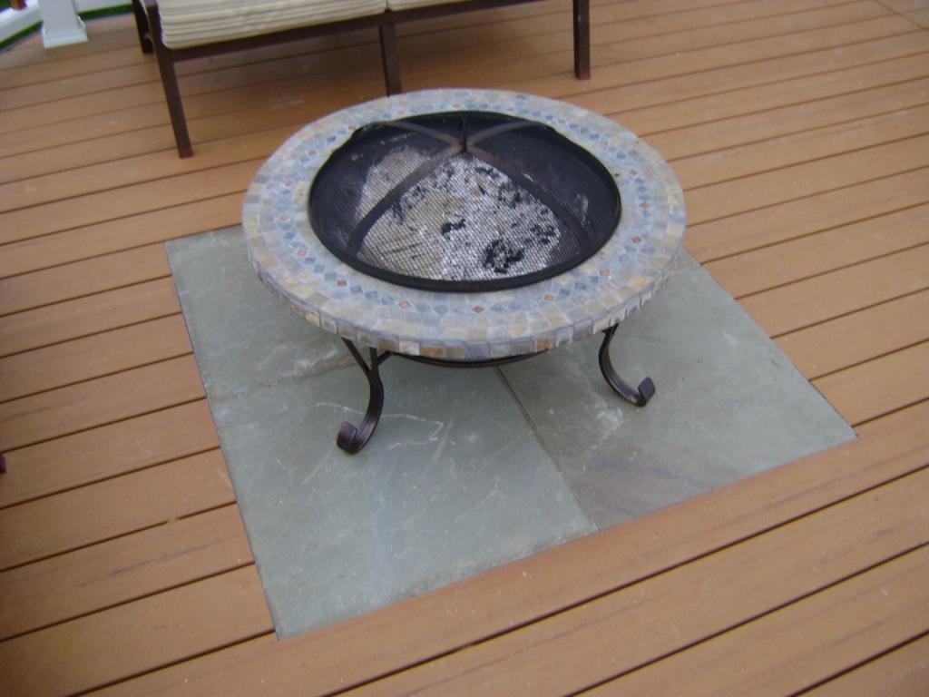 fire pit for deck use