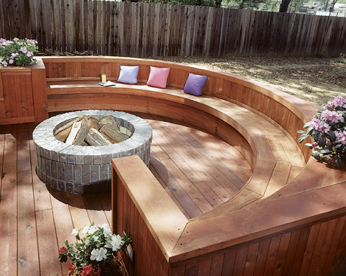 Outdoor Deck Fire Pit With Ideas
