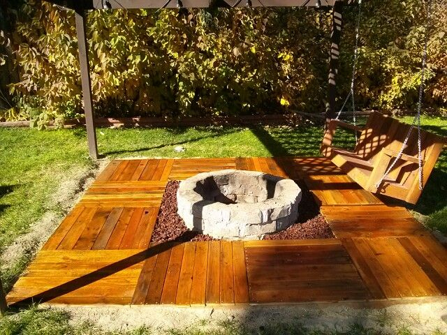 Floating Deck Fire Pit