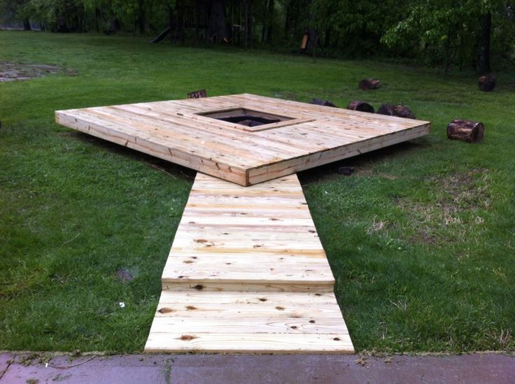 Floating deck fire pit | Deck design and Ideas