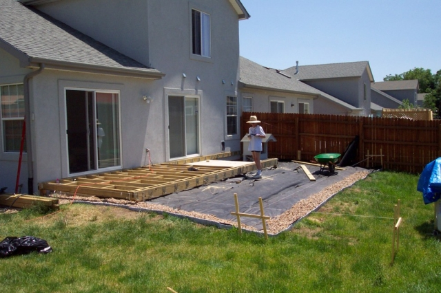 framing deck floor