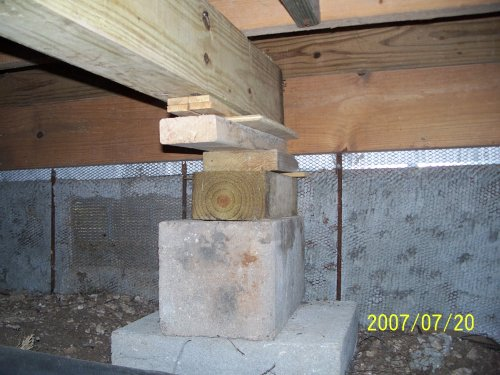 How to repair a deck foundation deck design and ideas for Wood crawl space foundation