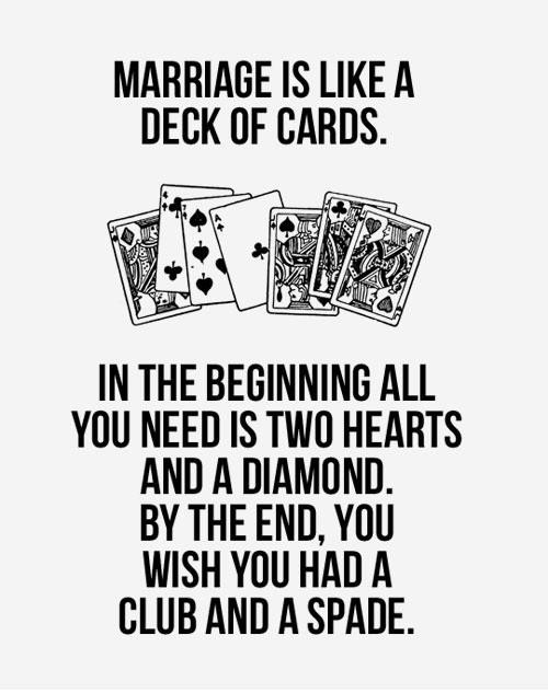 love is like a deck of cards quote