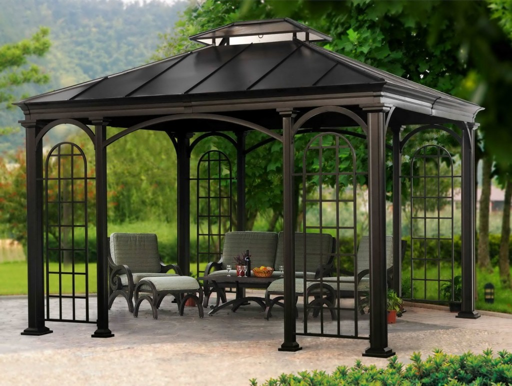 metal deck gazebo