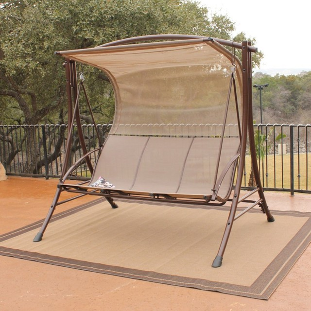 outdoor canopy glider swing : outdoor glider swing with canopy - memphite.com