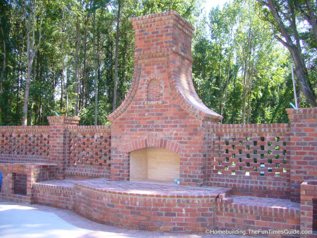 outside fireplace brick