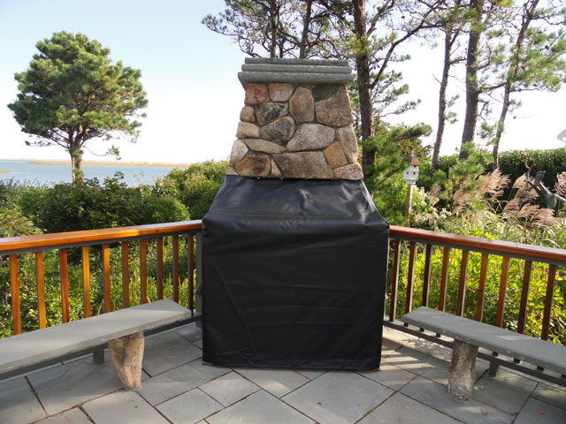 Outside fireplace covers   Deck design and Ideas