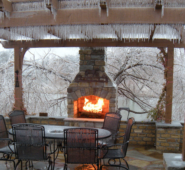 Outside fireplace kits | Deck design and Ideas