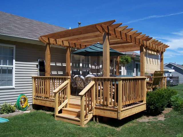 pergola on a deck pictures