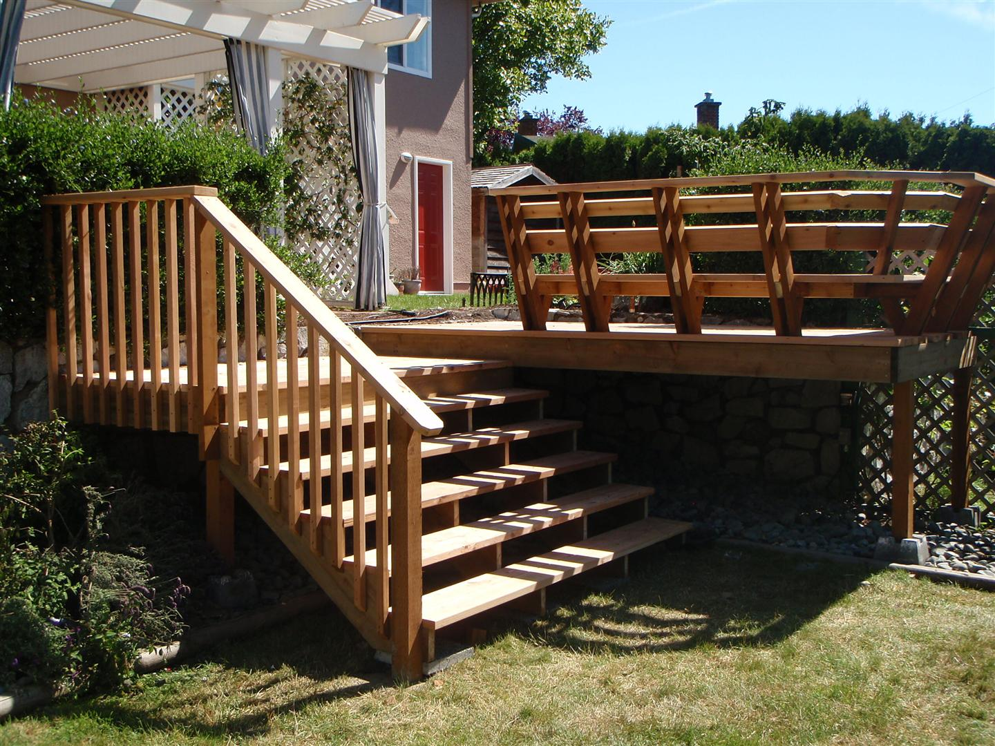 pictures of deck stairs
