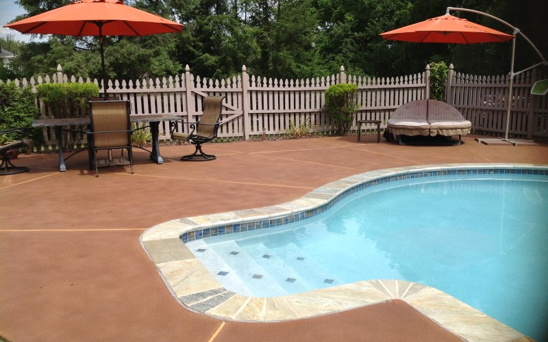 Pool Deck Colors Of Concrete Deck Design And Ideas